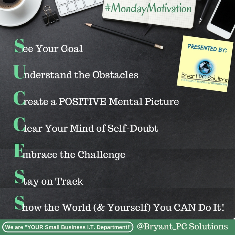 Success Acronym.Monday Motivation.Posted.8.1.16